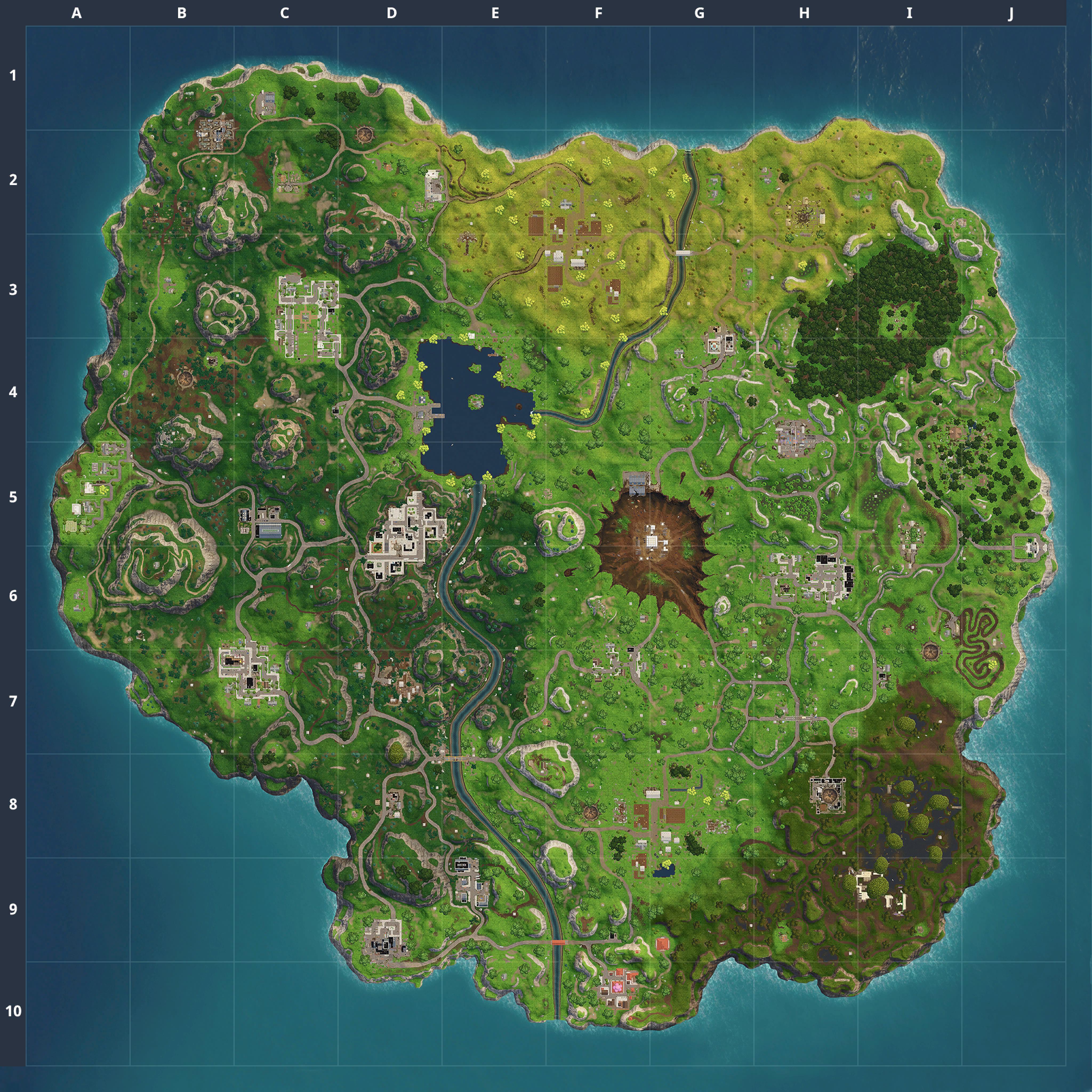 Mapa Fortnite temporada 4.3