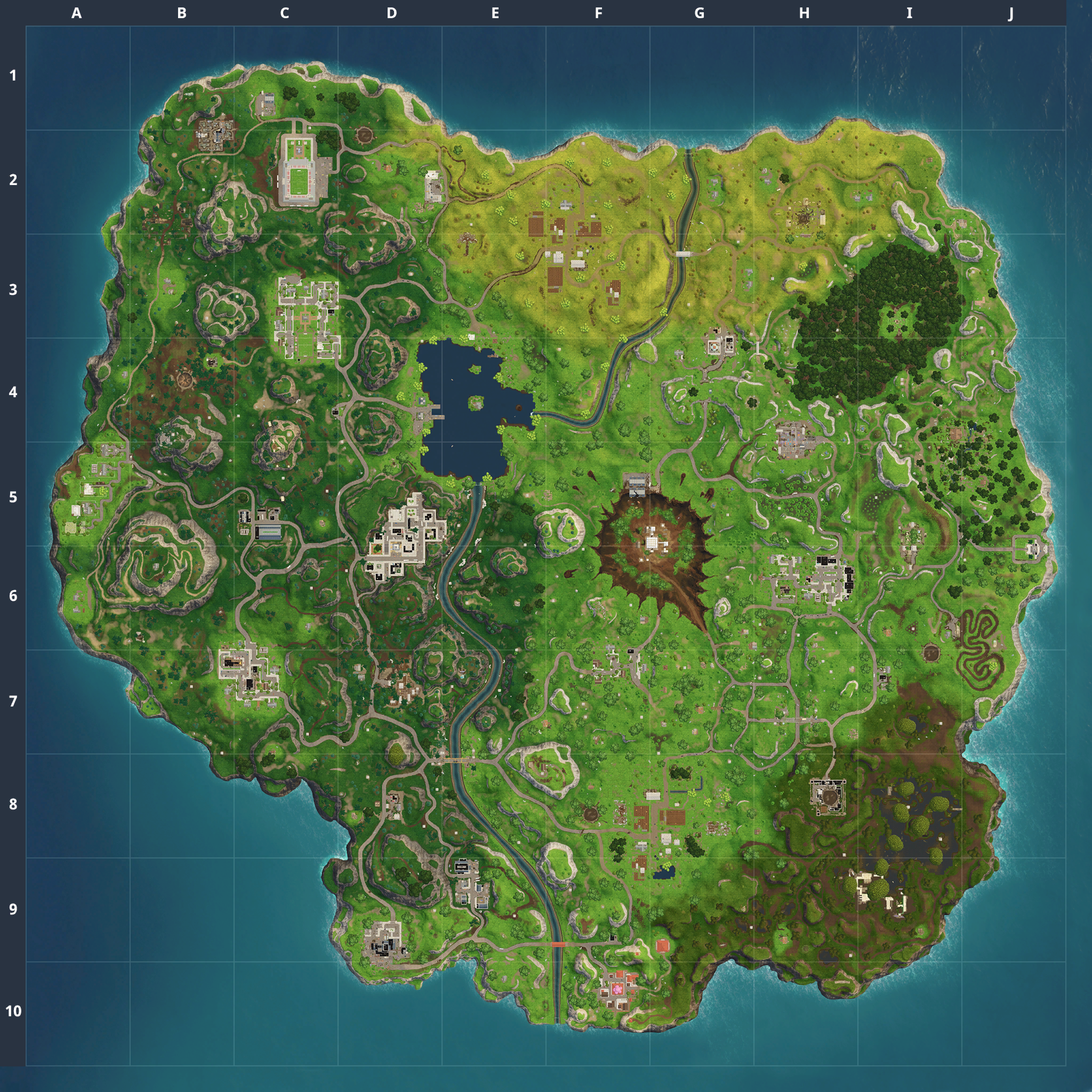Mapa Fortnite temporada 4.5