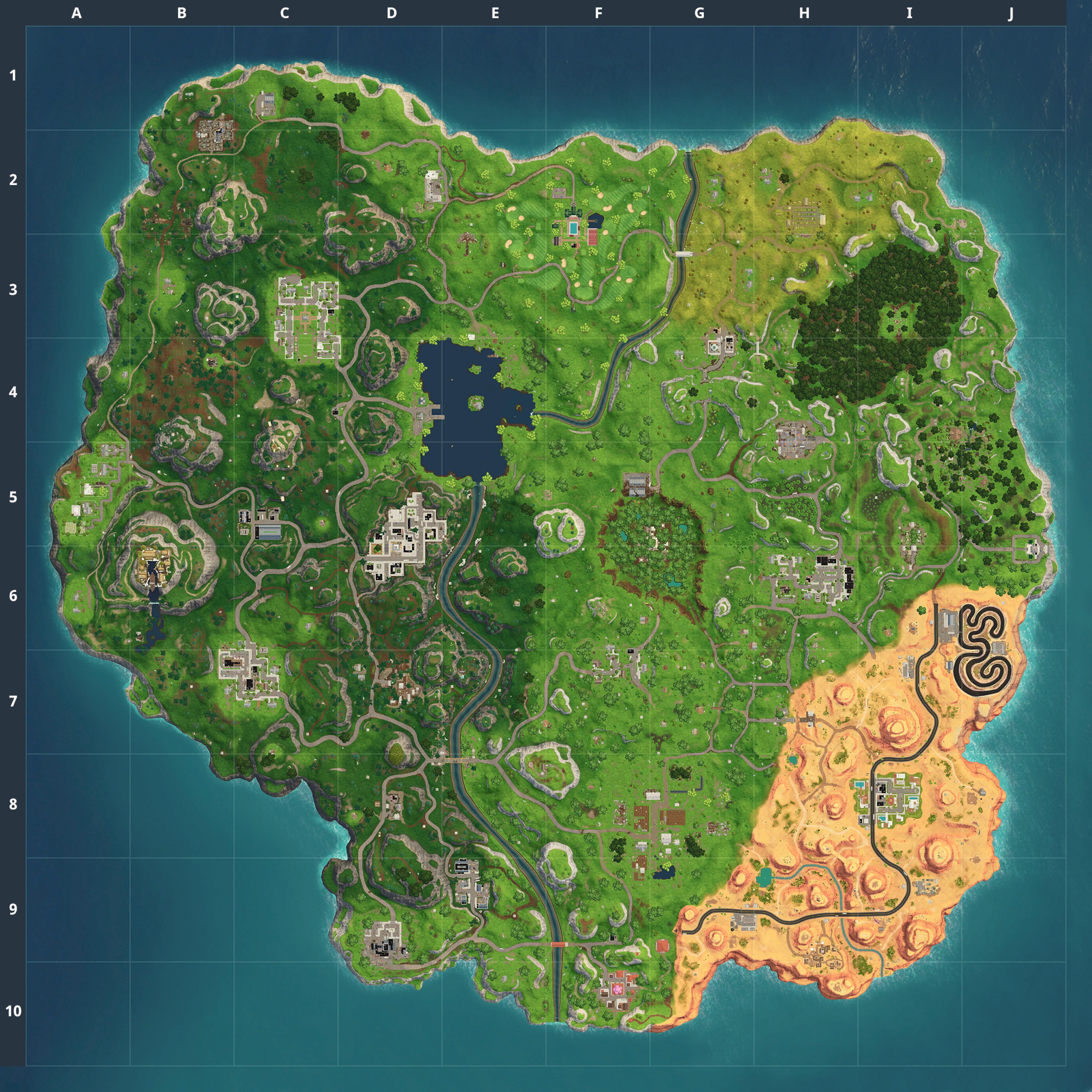 Mapa Fortnite temporada 5.0