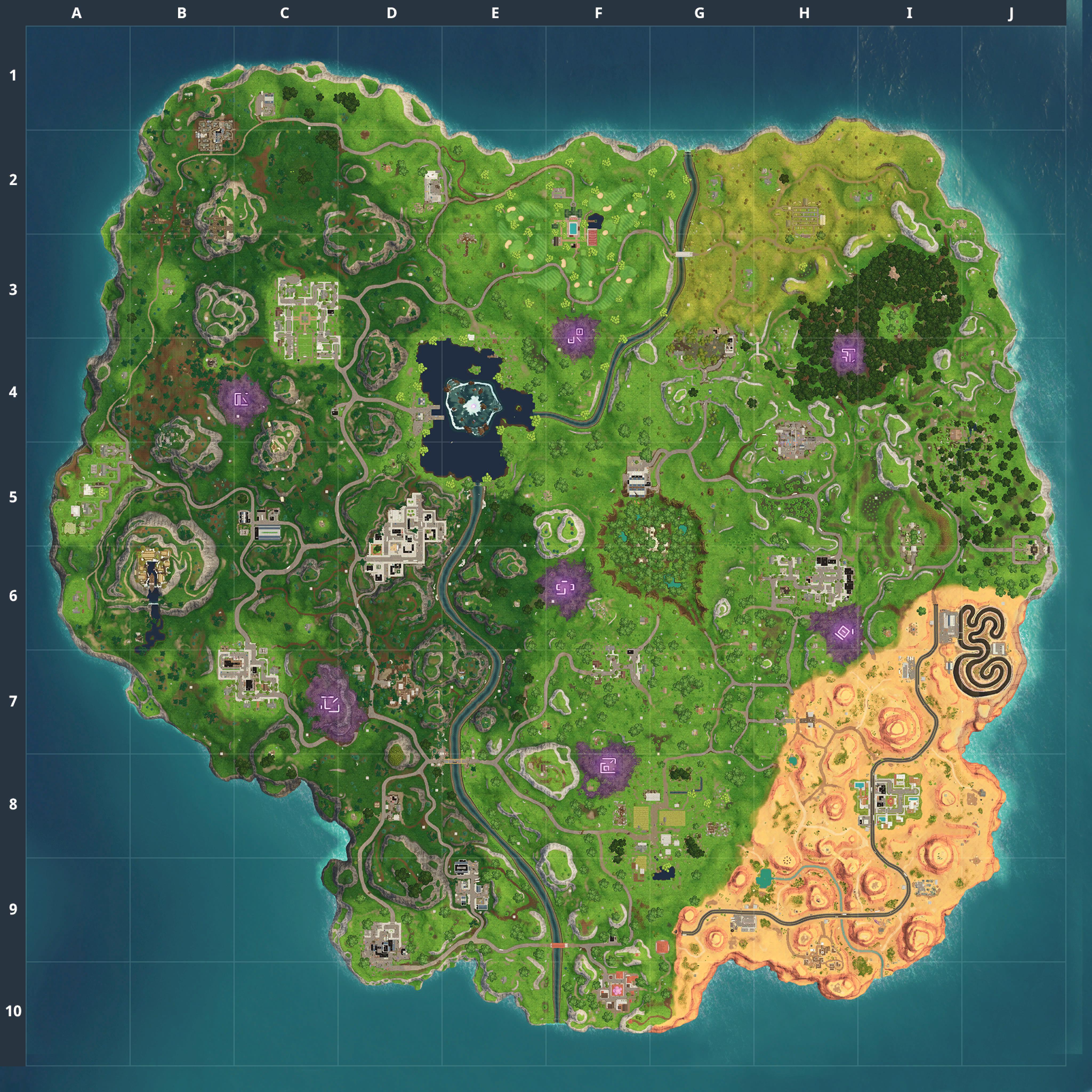 Mapa Fortnite temporada 6.0
