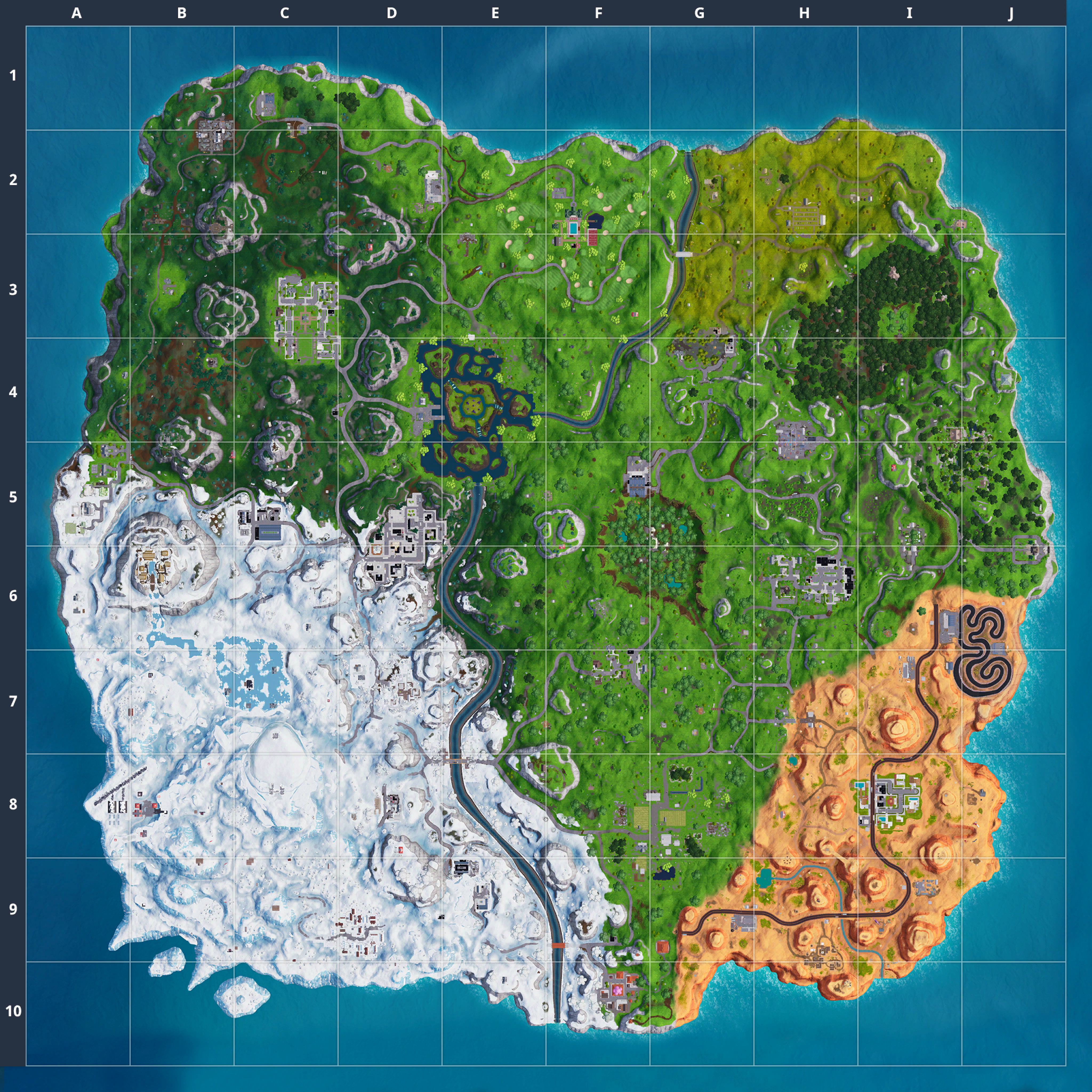 Mapa Fortnite temporada 7.00