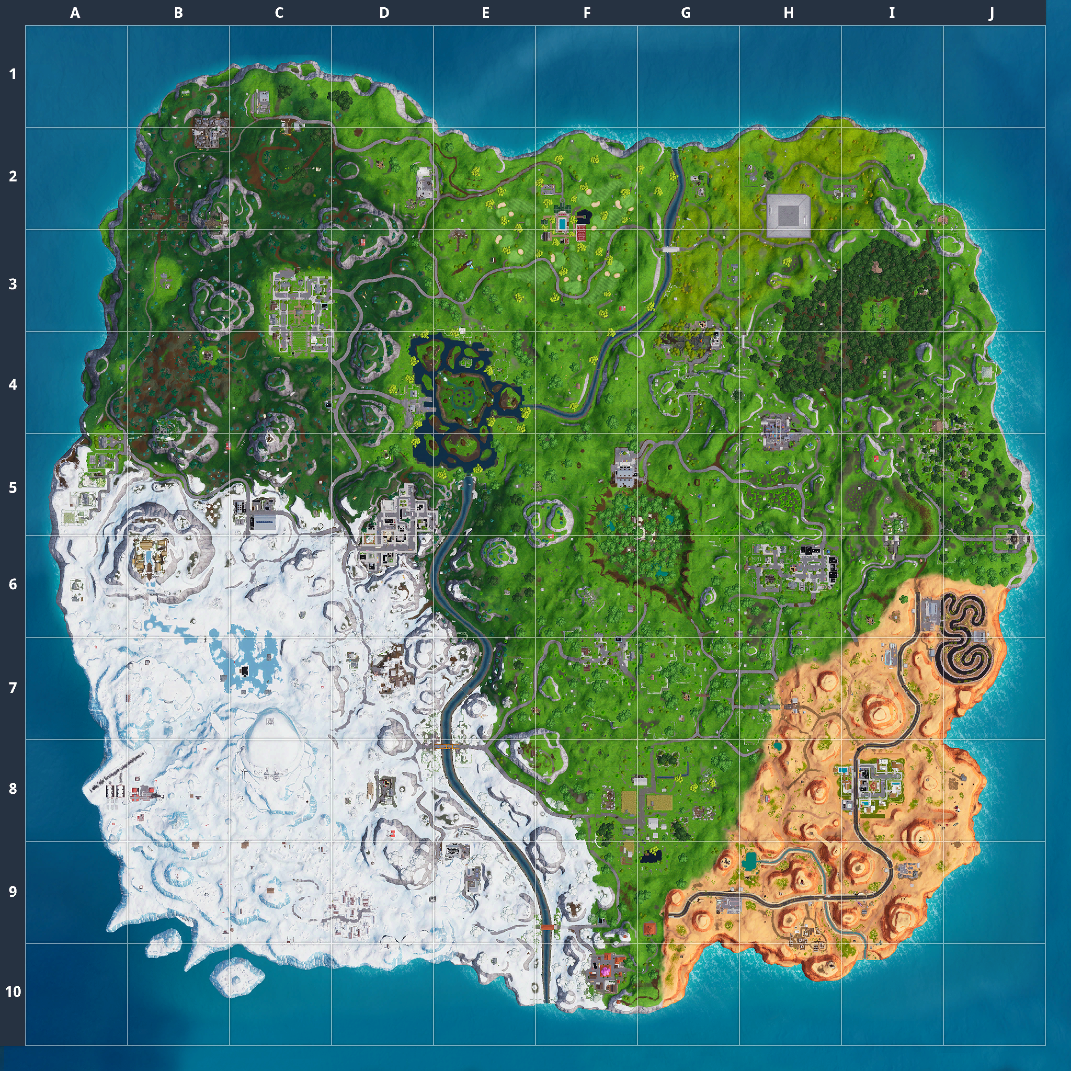 Mapa Fortnite temporada 7.01