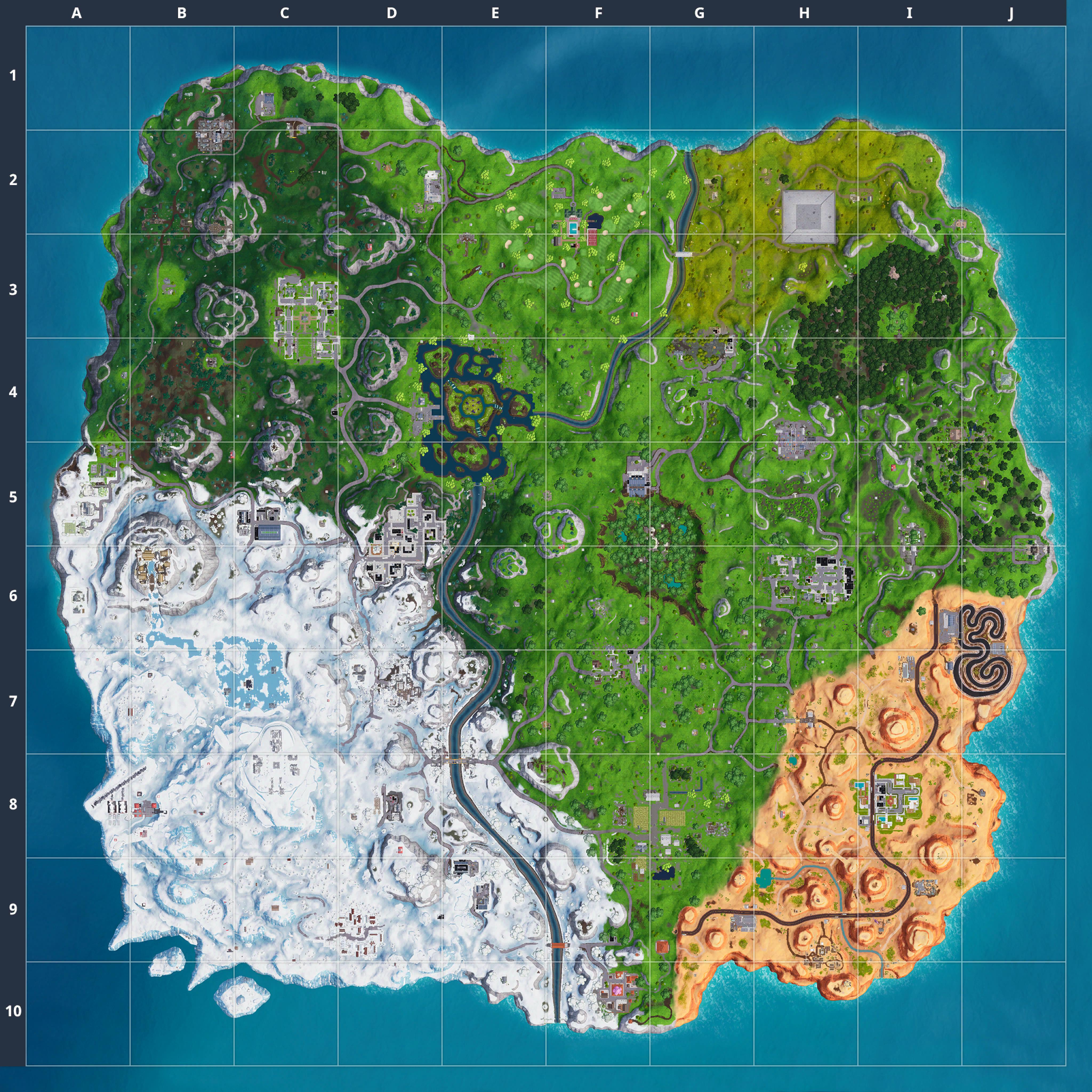 Mapa Fortnite temporada 7.10