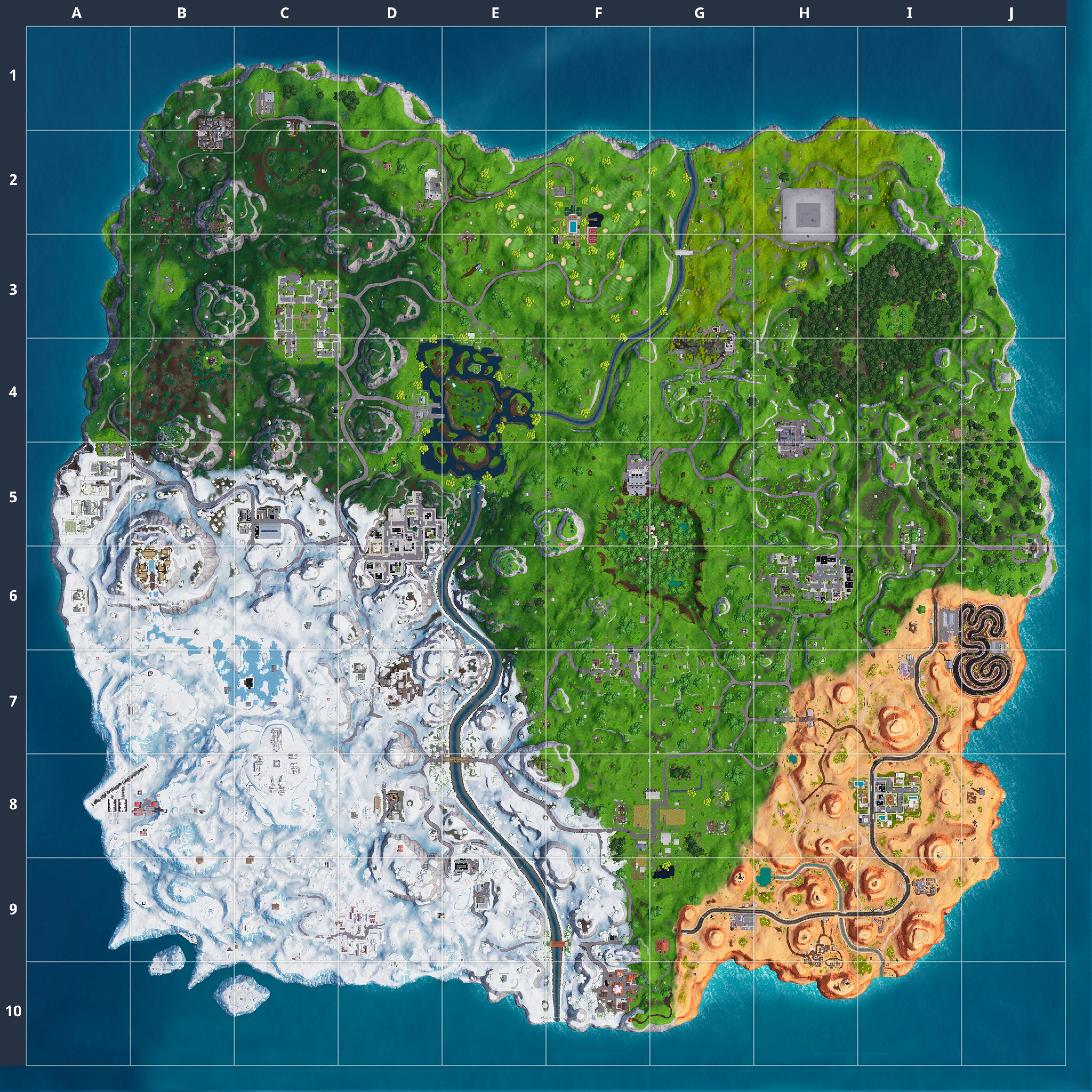 Mapa Fortnite temporada 7.30