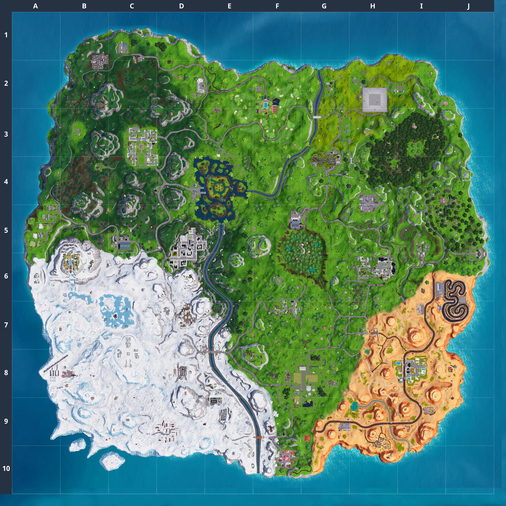 Mapa Fortnite temporada 7.40
