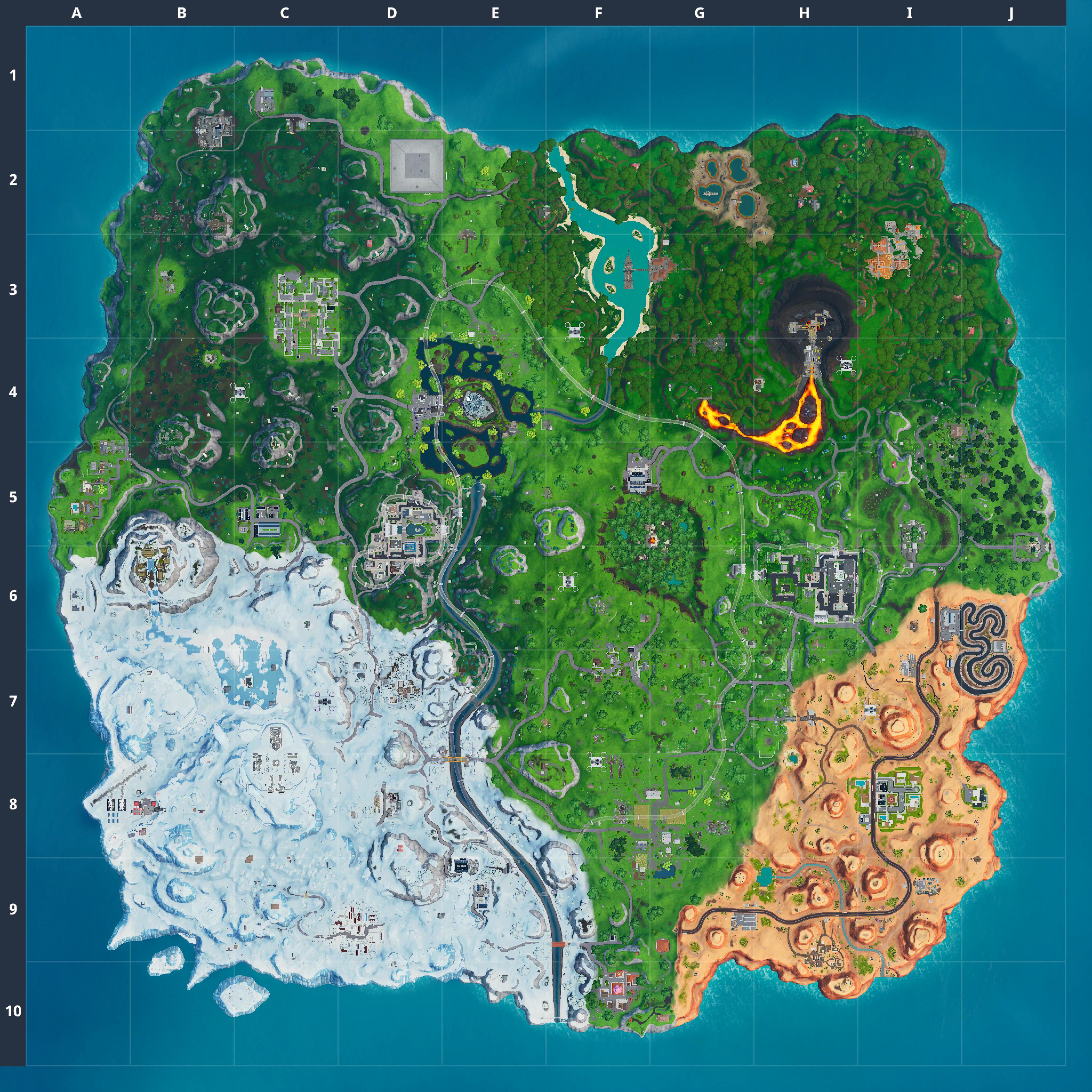 Mapa Fortnite temporada 9.00