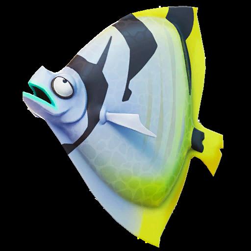 Black Striped Shield Fish Icon