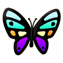 butterfly character style