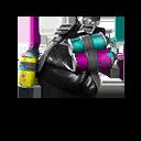 NEGRO accesorio mochilero estilo