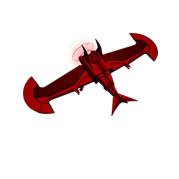 Illustrated The Devil's Wings umbrella style