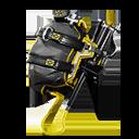 AMARILLO accesorio mochilero estilo