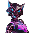 NEON WOLF character style